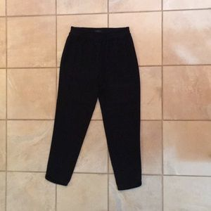 Black j crew paperbag trousers